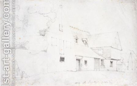 Views of a street in Llanllyfni Carnarvonshire by Cornelius Varley - Reproduction Oil Painting