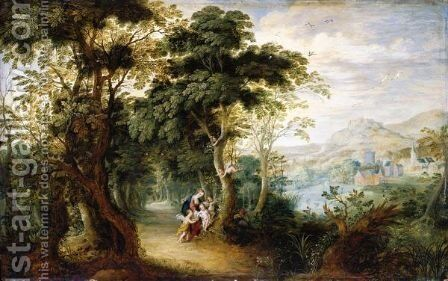 The Rest On The Flight Into Egypt by Jasper van der Laanen - Reproduction Oil Painting