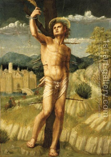 The Martyrdom Of St. Sebastian by Angelo Di Donnino Del Mazziere - Reproduction Oil Painting