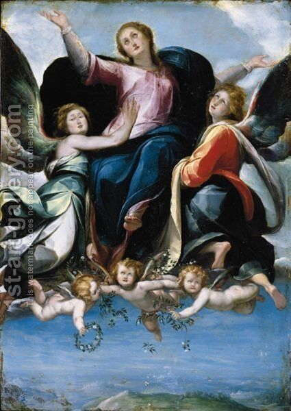 The Assumption Of The Virgin by (after) Giulio Cesare Procaccini - Reproduction Oil Painting