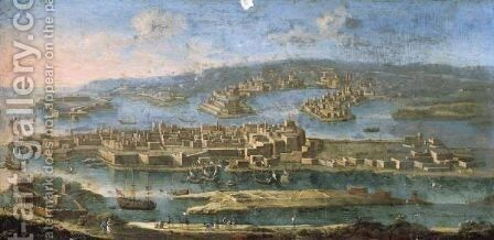 A View Of Valletta, Malta by Juan Ruiz - Reproduction Oil Painting
