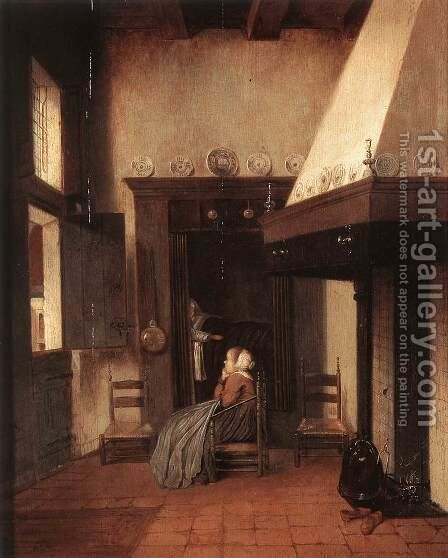 The Hospital Orderly by Jacobus Vrel - Reproduction Oil Painting