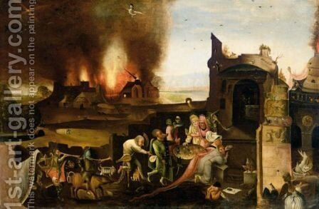 The Temptation Of Saint Anthony by (after) Hieronymus Bosch - Reproduction Oil Painting