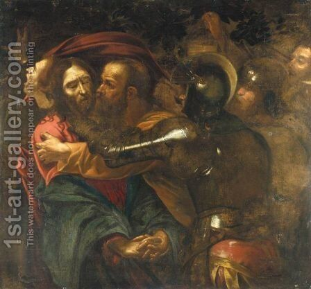 The Taking Of Christ 2 by (after) Michelangelo Merisi Da Caravaggio - Reproduction Oil Painting
