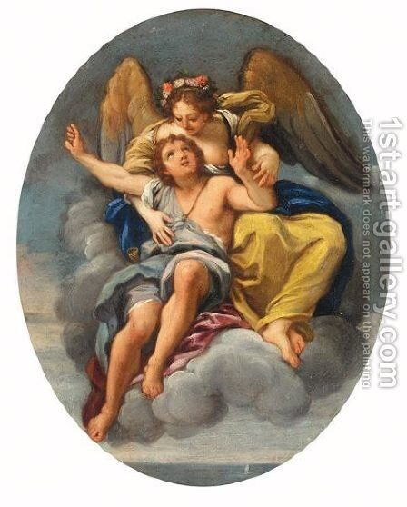 An Angel Bearing A Youth To Heaven by Giuseppe Passeri - Reproduction Oil Painting