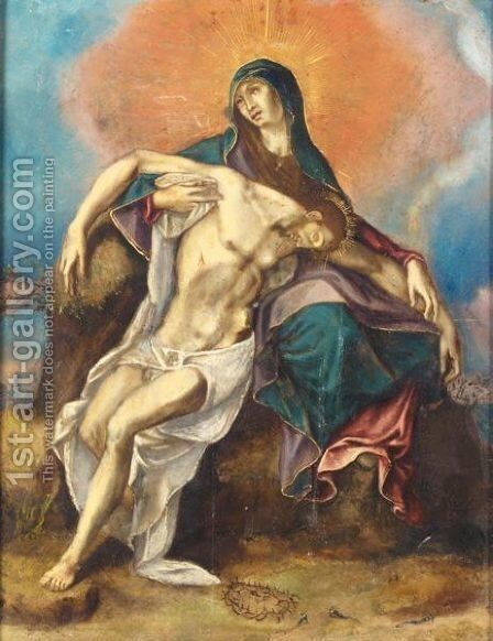 The Pieta by (after) El Greco (Domenikos Theotokopoulos) - Reproduction Oil Painting