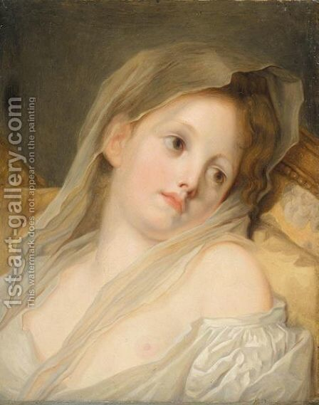 The Dreamer by (after) Greuze, Jean Baptiste - Reproduction Oil Painting