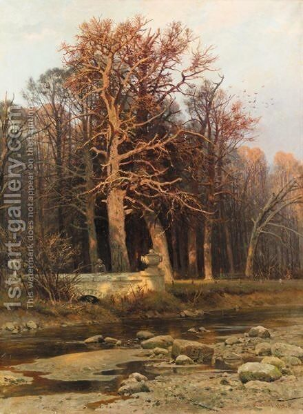 Woodside Stream by Ivan Shishkin - Reproduction Oil Painting