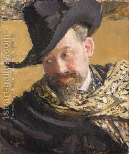 Portrait Of The Artist Vasily Levy by Ilya Efimovich Efimovich Repin - Reproduction Oil Painting