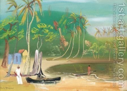 View Over The Lagoon by Boris Dmitrievich Grigoriev - Reproduction Oil Painting