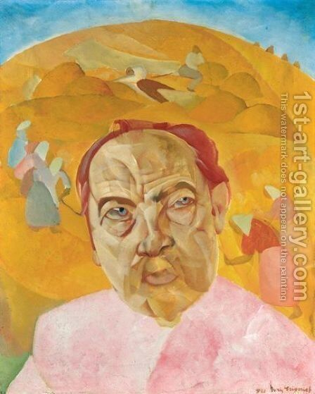 The Commissar by Boris Dmitrievich Grigoriev - Reproduction Oil Painting