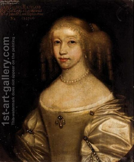 Portrait Of Lady Isabel Maitland (Circa 1654-1706) by (after) David Scougall - Reproduction Oil Painting