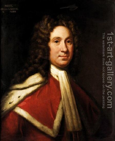 Portrait Of Charles, 9th Lord Elphinstone (1676-1738) 3 by (after) William Aikman - Reproduction Oil Painting