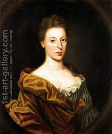 Portrait Of Lady Mary Fleming, Wife Of Harry Maule Of Kellie by Benjamin Ferrers - Reproduction Oil Painting