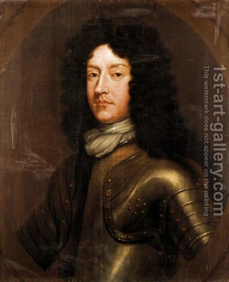 Portrait Of A Member Of The Elphinstone Family Wearing Armour by (after) Benjamin Ferrers - Reproduction Oil Painting