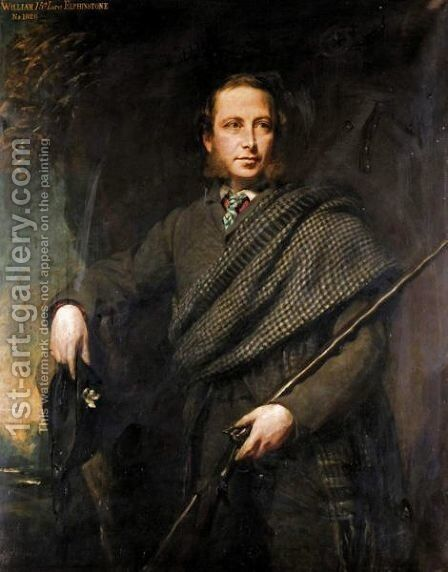 Portrait Of William, 15th Lord Elphinstone (1828-1893) by Colvin Smith - Reproduction Oil Painting