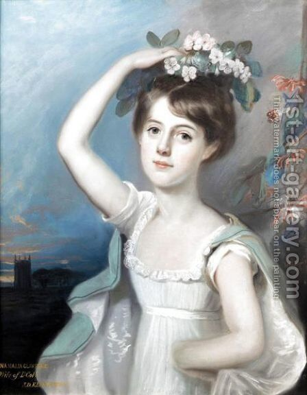 Portrait Of Diana Maria Clavering (D.1821), 1st Wife Of Lt Col. James Buller-Fullerton-Elphinstone by E. Hastings - Reproduction Oil Painting