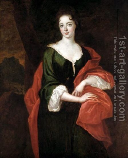 Portrait Of Lady Montague by (after) Kneller, Sir Godfrey - Reproduction Oil Painting
