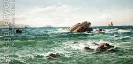 A Summer Day, St. Bride's Bay, Pembrokeshire by David James - Reproduction Oil Painting