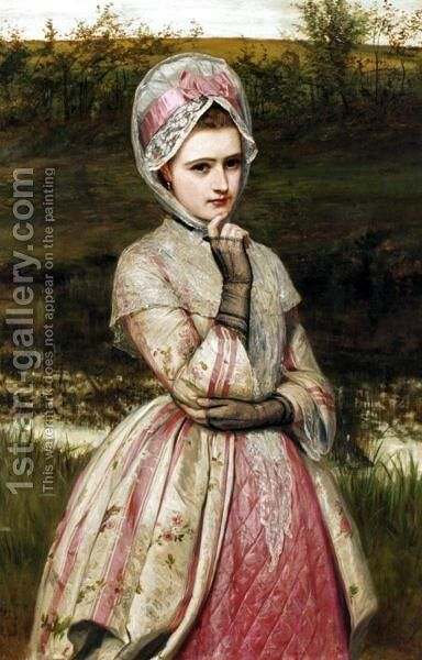 A Young Beauty 5 by Charles Sillem Lidderdale - Reproduction Oil Painting