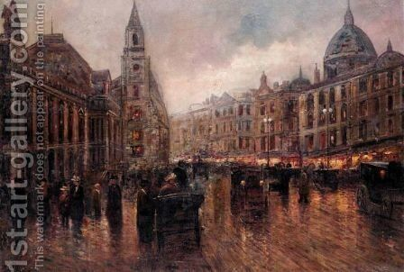View Of St. Petersburg by Continental School - Reproduction Oil Painting