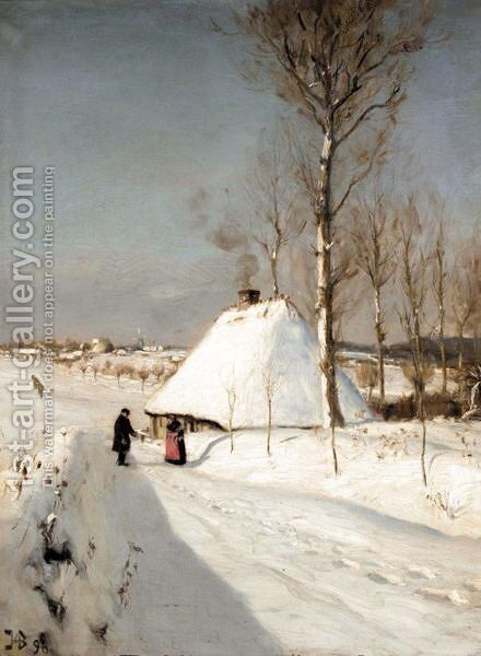 Winter Landscape by Hans Anderson Brendekilde - Reproduction Oil Painting