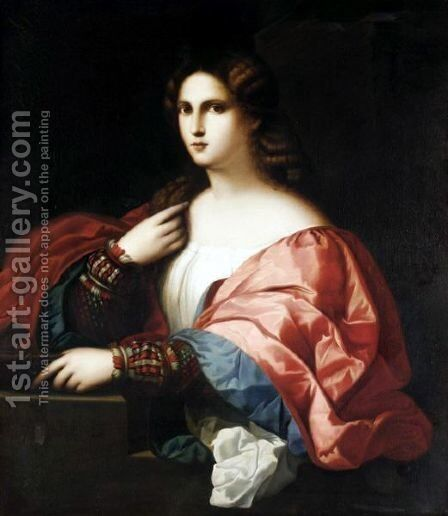 La Bella by Giuseppe Mazzolani - Reproduction Oil Painting