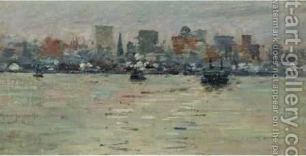 The Ferry 2 by Theodore Robinson - Reproduction Oil Painting