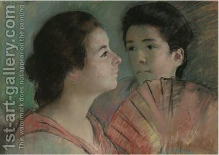 Two Sisters by Mary Cassatt - Reproduction Oil Painting