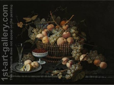 Still Life With Fruit 5 by Severin Roesen - Reproduction Oil Painting