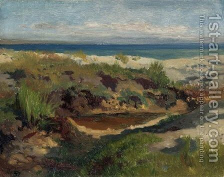 Dune Landscape by Arthur Calame - Reproduction Oil Painting