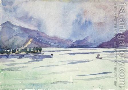 At The Lake Como by Giovanni Giacometti - Reproduction Oil Painting