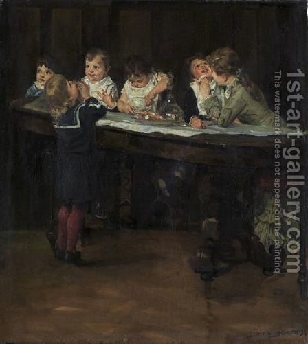 Children's Table by Simon Durand - Reproduction Oil Painting