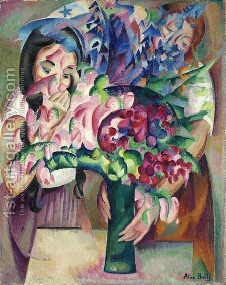 Bouquet Et Visagesbouquet And Faces by Alice Bailly - Reproduction Oil Painting
