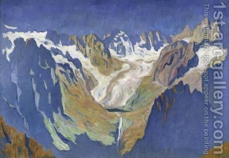 Albigna Valley, 1932 by Giovanni Giacometti - Reproduction Oil Painting