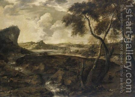 Paesaggio Con Viandanti by (after) Marco Ricci - Reproduction Oil Painting