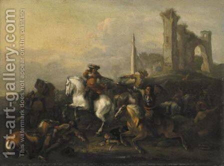 Battaglia by (after) Philips Wouwerman - Reproduction Oil Painting