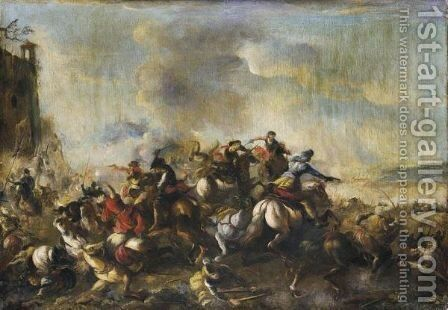 Battaglia by (after) Antonio Calza - Reproduction Oil Painting