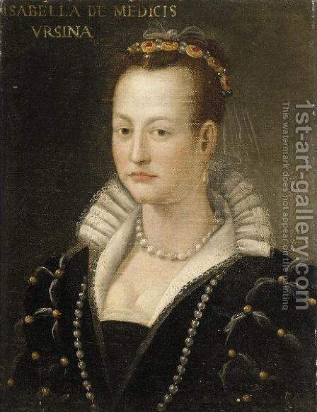 Ritratto Di Isabella Medici by Italian School - Reproduction Oil Painting