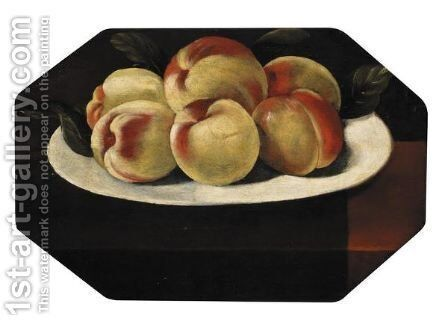 Natura Morta Con Pesche by Cremonese School - Reproduction Oil Painting