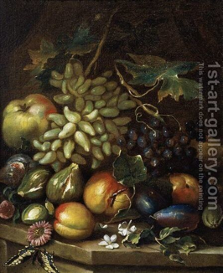 Natura Morta Con Uva by Maximilian Pfeiler - Reproduction Oil Painting
