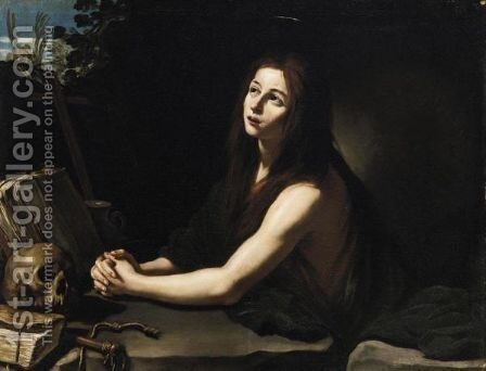 Maddalena Penitente by Italian School - Reproduction Oil Painting