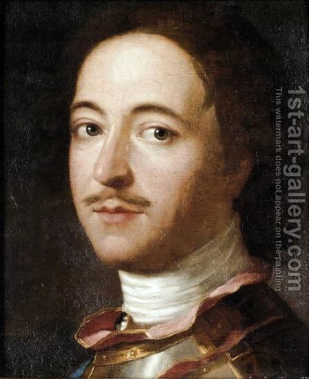 Bust Portrait Of Peter The Great by (after) Jean-Marc Nattier - Reproduction Oil Painting