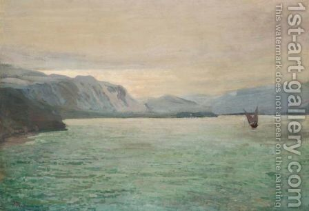 Dawn On The Dniepr by Ivan Trusz - Reproduction Oil Painting