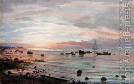 Sunset by Albert Nikolaevich Benois - Reproduction Oil Painting
