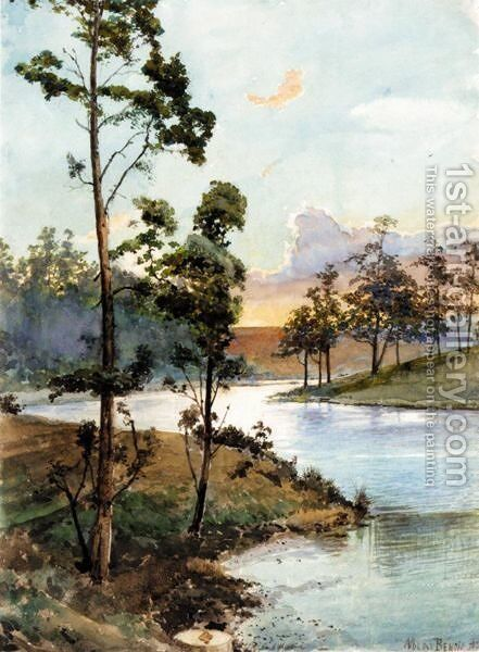 Sunset Over The Lake by Albert Nikolaevich Benois - Reproduction Oil Painting
