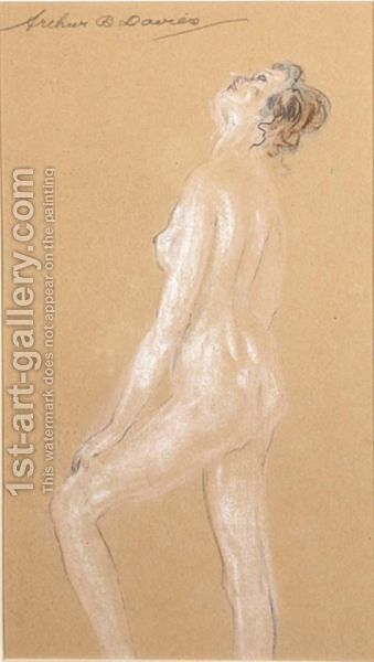 A Standing Nude by Arthur Bowen Davies - Reproduction Oil Painting