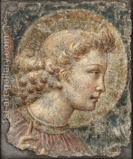 The Head Of The Virgin Mary by (after)  Benozzo Di Lese Di Sandro Gozzoli - Reproduction Oil Painting