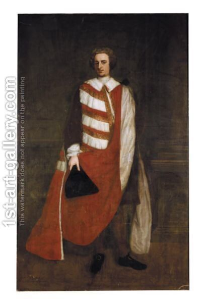 Portrait Of Charles Duke Of Marlborough (1706-1758) by Michael Dahl - Reproduction Oil Painting