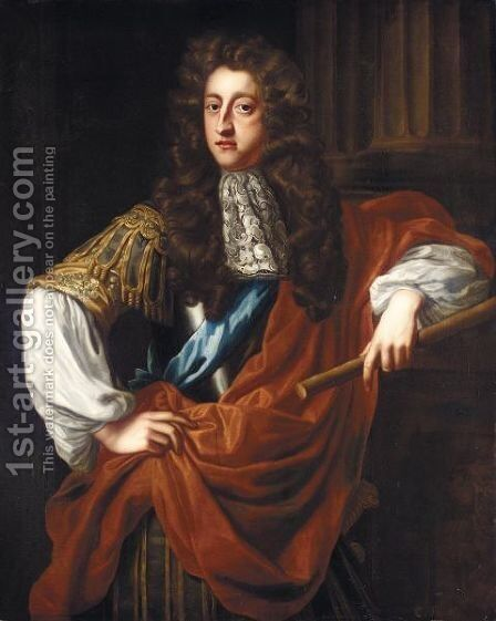 Portrait Of George, Prince Of Denmark (1653-1708) by (after) Dahl, Michael - Reproduction Oil Painting